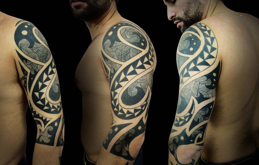 Χαρακτηριστικό σχέδιο τατουάζ της φυλής των Μαορί