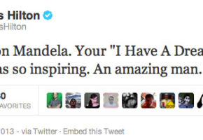 H Πάρις Χίλτον αποχαιρετά τον Νέλσον Μαντέλα – και το internet ανοίγει στα δύο