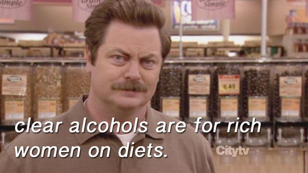 ron swanson clear alcohols