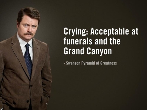 ron swanson crying
