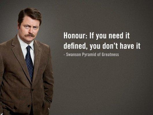 ron swanson honour