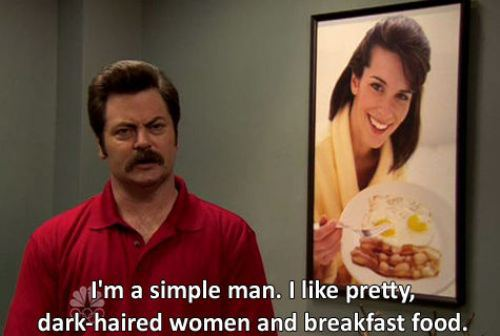 ron swanson i'm a simple man