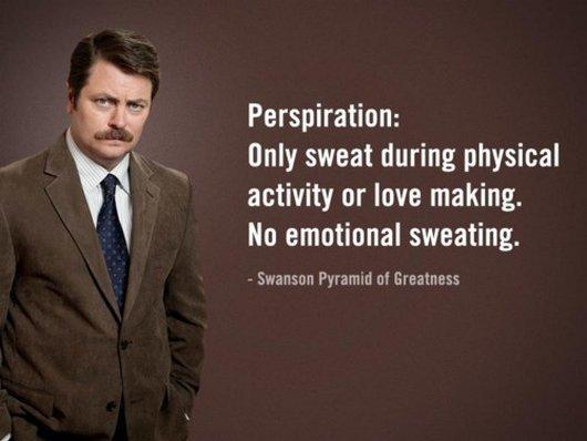 ron swanson perspiration