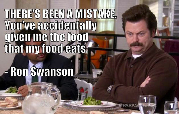 ron swanson there's been a mistake