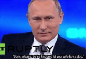 Ο Πούτιν σε ρόλο Τάκη Τσουκαλά έκανε εκπομπή με τηλεφωνήματα του κοινού (VIDEO)