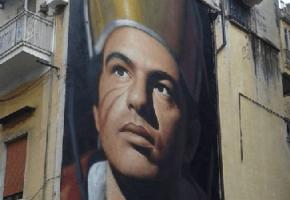 Ο Αλέξης Τσίπρας εμφανίζεται με τη μορφή αγίου σε τοίχο στη Νάπολη (PHOTO)
