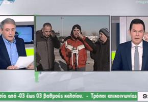 """""""Παγώσαν τα κωλομ****** μας, κύριε Κασαπόπουλε"""" δηλώνει αγανακτισμένος αγρότης στον αέρα του Mega (VIDEO)"""