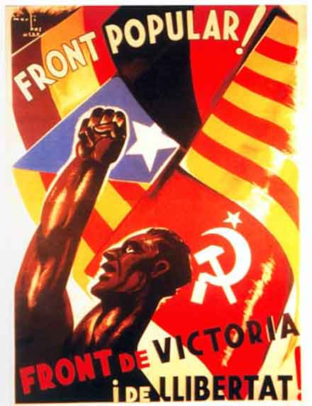 Αφίσα του Λαϊκού Μετώπου