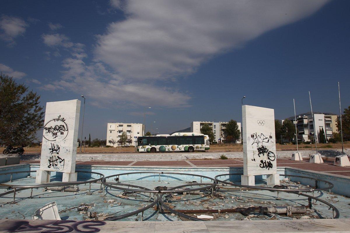 Τέως σιντριβάνι του Ολυμπιακού Χωριού, πιθανά ούτε Pokestop τώρα