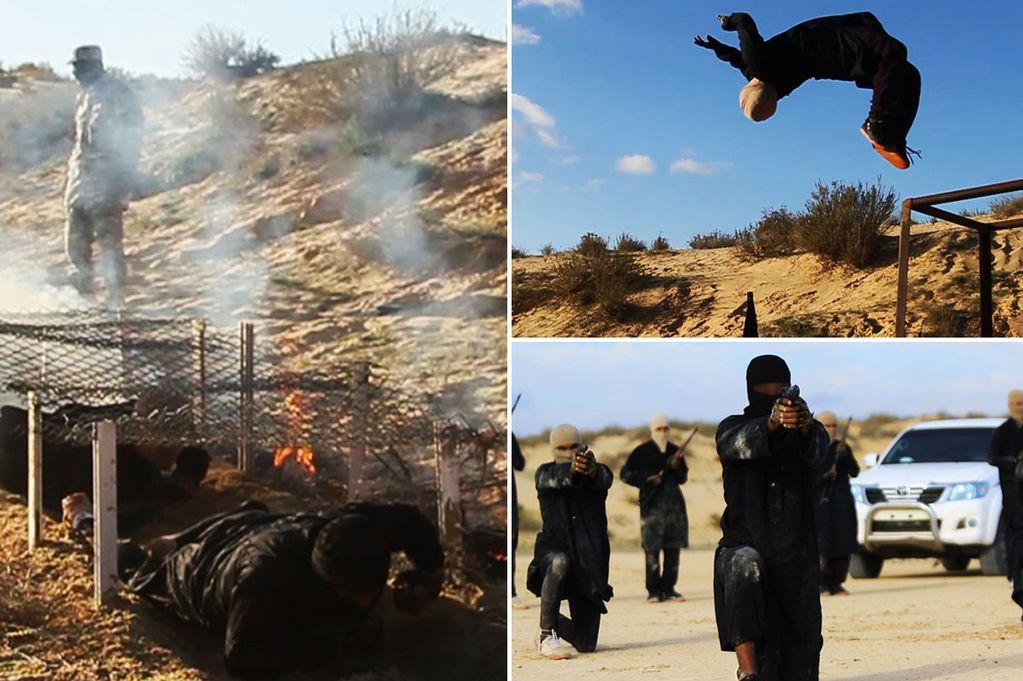 ISIS-unveil-new-jihadi-training-camp-in-the-Egyptian-desert-with-recruits-shown-tackling-assault-courses-and-practicing-