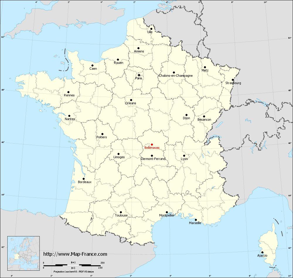 administrative-france-map-regions-Bellenaves