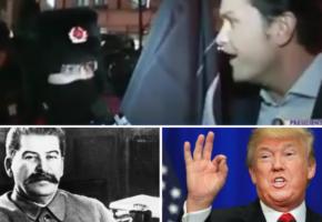 """""""Χίλιες φορές Στάλιν παρά Τραμπ"""": Διαδηλωτής στην Ουάσινγκτον μοιράζει εγκεφαλικά σε Αμερικάνο δημοσιογράφο (VIDEO)"""