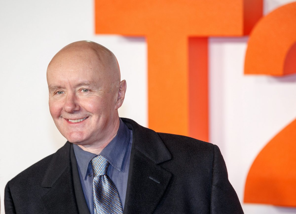epa05742317 British novelist Irvine Welsh attends for the 'T2 Trainspotting' World Premiere at Cineworld, Fountain Park, in Edinburgh, Scotland, Britain, 22 January 2016. The movie will be released in the UK on 27 January. EPA/ROBERT PERRY