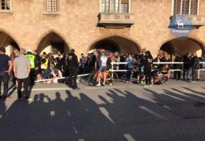 Ρόδος: Τρεις ποδηλάτες μεταφέρθηκαν στο νοσοκομείο μετά από στούκα με αστυνομική μηχανή σε ποδηλατικό αγώνα (VIDEO)