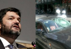 Το αυτοκίνητο του Φαήλου Κρανιδιώτη ήταν το θύμα της επίθεσης που δέχτηκε σήμερα ο δικηγόρος (PHOTOS)