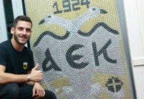 ΣΥΓΚΙΝΗΤΙΚΟ: Πατρινός έφτιαξε το σήμα της ΑΕΚ με 3500 τσιγκάκια από κουτάκια αναψυκτικών και μπύρας (VIDEO)