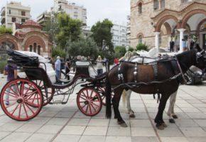 Ταρίφας έπεσε πάνω σε καρότσα με άλογα χθες το απόγευμα στο Ζάππειο